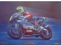 A Truly unique colour print of a Motorbike racing Legend