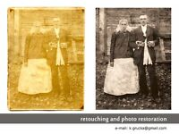 old photo restoration (retouching and reviving old photos) - perfect for CHRISTMAS gift!!!