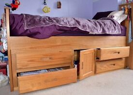 Single Captain Bed with storage