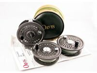 Orvis Original Battenkill Disc 7/8 Fly Fishing Reel with two spare spools in good condition.