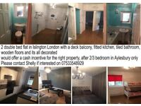 My 2 bed flat in Islington for your 2/3 bed in Aylesbury