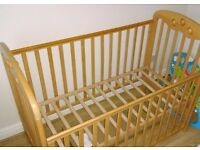 Mothercare dropside cot