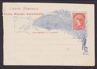 Brazil H G 17 Mint 1894 80R Orange   Blue Liberty Postal Card