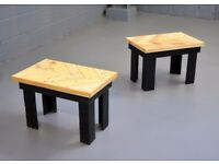 A Pair of Vintage Retro Upcycled Pallet Wood Side Tables or Coffee Tables