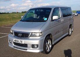 Mazda Bongo. 52000 miles Silver Automatic. 8 seats. Excellent condition