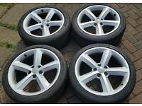 """Audi 18"""" alloy wheels with good tyres"""