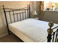 Kings size bedfame with luxury mattress