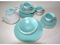Poole Pottery - various items of tableware in Ice Green and Seagull