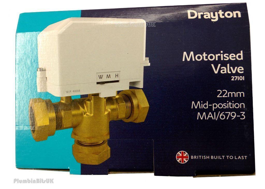 Drayton Motorised Valve 22mm Mid-Position MAI/679-3 3 way Valve ...