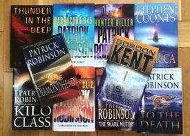 BOOKS - Ten Submarine Fiction Novels - Various Authors - £15