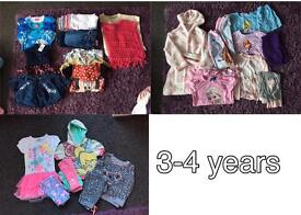 Various sizes 3-4, 4-5 and 5-6 clothes