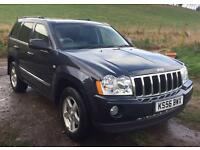 JEEP GRAND CHEROKEE CRD LIMITED 73K JUST SERVICED HEATED SEATS AUTO 4x4 CRUISE CONTROL LEATHER
