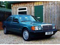 1988 MERCEDES-BENZ 190 2.0E W201 AUTOMATIC 90K MILES MODERN CLASSIC 3 OWNER MINT BMW E30 VW GOLF MK2