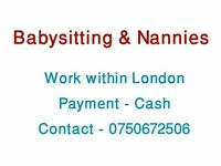 Looking for Babysitting & Nannies Work
