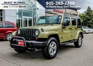 2013 Jeep WRANGLER UNLIMITED SAHARA 4X4, MANUAL, NAVI, A/C
