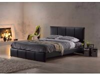 💖🔥💖💥CHEAPEST EVER PRICE GUARANTEED💖XMAS SALE❤New Double/King Leather Bed+Mattress (Black/Brown)