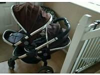 Icandy double twin pram
