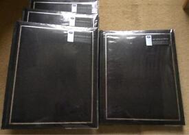 "Boots 4 photo albums ""black Cobra"" self adhesive 200photos"