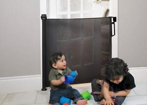 """New Bily BG370200 Retractable Safety Gate,Black Fits Opening up to 140 cm (55"""")  PU2"""