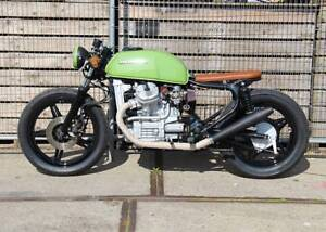 HONDA CX500 GL500 BLACK CAFE RACER PEA SHOOTER HOOLIGAN EXHAUST MUFFLER PIPES