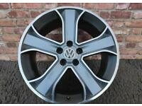"""20"""" Rims/Alloys with tyres, ET 48, 9.5"""" wide, Land Rover, Range Rover, VW T5 Graphite Polish"""