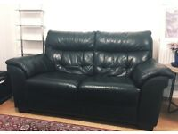 Beautiful quality leather sofa (originally £1300)