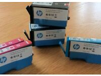 Five New HP Ink Cartridges HP 920XL (Black, Magenta and Cyan)