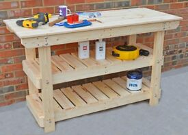 Wooden Workbench, Worktables | Various Sizes & Bespoke Sizes Available..Strong & Sturdy!!