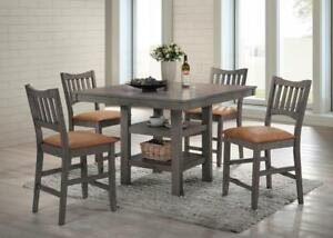5PC PUB TABLE SET (TABLE AND FOUR CHAIRS)