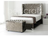 PYRO BEDS LTD**LUXURY WING BACK BEDS AVAILABLE IN LEATHER, VELVET & FABRIC