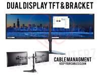 "22"" dual monitors + stand"
