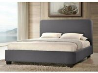 3ft Opalia single grey fabric bed BRAND NEW!