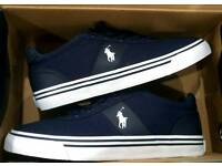 RALPH LAUREN POLO NEWPORT HANFORD TRAINERS MENS UK SIZE 6 NAVY *BRAND NEW*