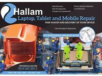 Laptop, Tablet and Mobile Repairs in Sheffield - Home or Office Call Out Service Available!