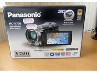 Panasonic HC-V700 Camcorder Excellent unmarked condition.
