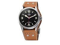 Tudor Heritage Ranger 79910 Watch with Leather Bund & Tudor Fabric Straps, Full Set – NEW