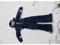 Trespass Kids Ski Suit Blue boys age 7/8 as new top quality very warm.