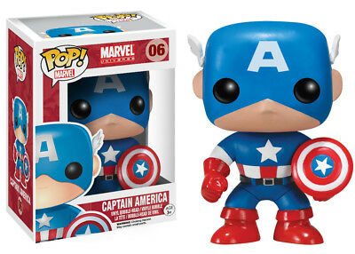 Funko Pop Marvel: Marvel Universe - Captain America Vinyl Bobble-Head Item #2224