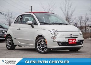 2015 Fiat 500C Lounge | | LEATHER | PREMIUM SOUND | HEATED SEATS