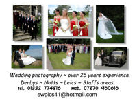 Wedding photography, over 25 years experience. From £185 to £275.