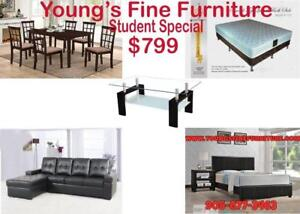 STUDENT PACKAGE $799 ALL HOME LIVING FURNITURE AT THE LOWEST PRICE
