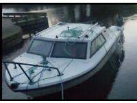 17ft Fibreglass Cabin boat engine and trailer **BARGAIN**