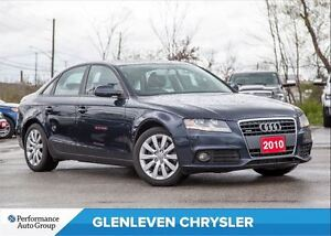 2010 Audi A4 2.0T  PREMIUM | SUNROOF | LEATHER | BLUETOOTH