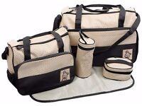 Diaper Bag Set (5 items) + bonus
