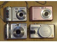 Four Broken Digital Cameras - Panasonic Lumix Samsung Canon