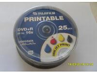 Brand new spindle of 25x FujiFilm Printable DVD+R Disks 4.7GB (Bath)