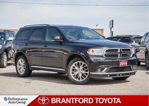 2016 Dodge Durango Limited, Carproof Clean, Black