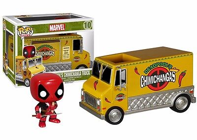 Funko Pop  Rides Deadpool Chimichanga Truck Vinyl Figure