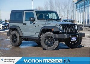 2015 Jeep Wrangler WILLYS 6Spd Over $11K Options!