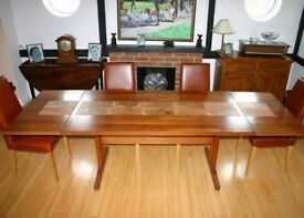 Dining room table, teak, superb quality.